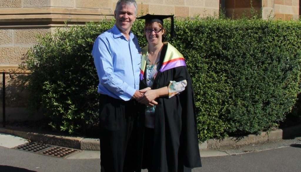 Russell and Karen at Graduation