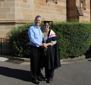 Russell and Karen at Graduation